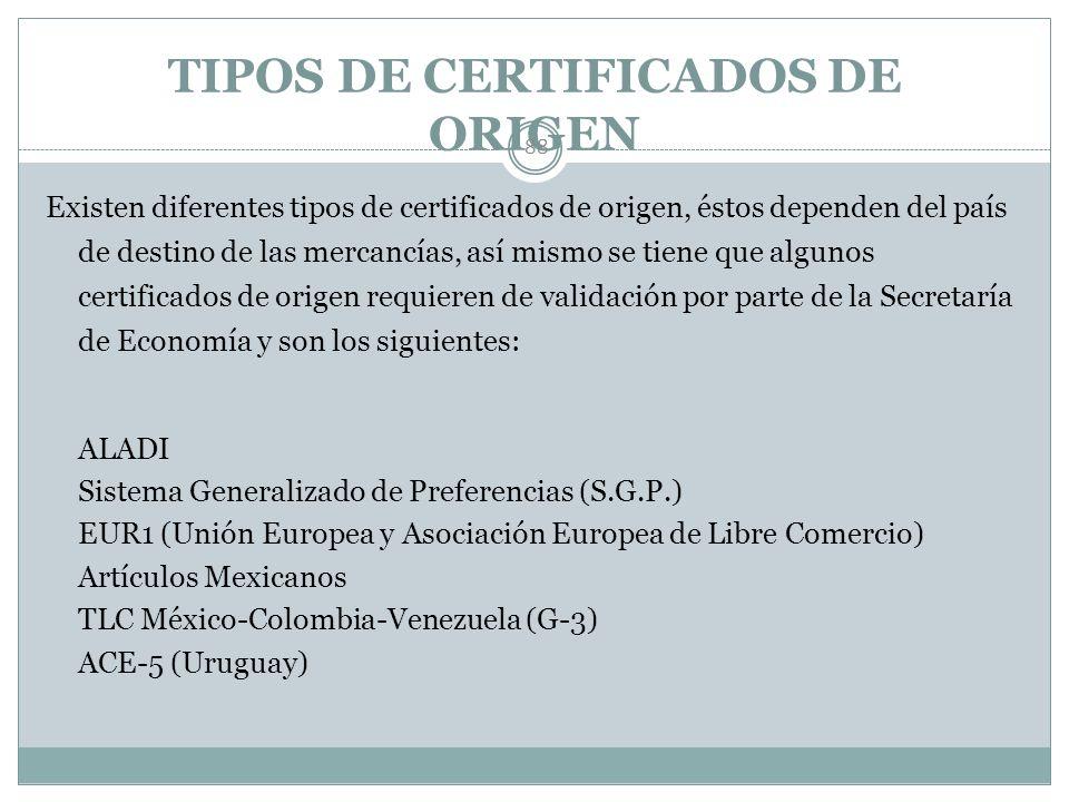 CRITERIOS 87 Para obtener un certificado de origen se debe tramitar previamente el cuestionario de registro correspondiente. Para requisitar el cuesti