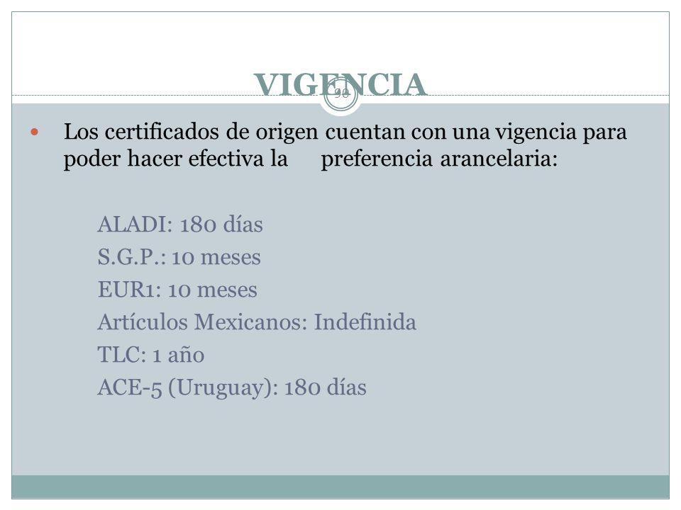 TIPOS DE CERTIFICADOS DE ORIGEN 89 Los certificados de origen que no requieren validación por parte de la Secretaría de Economía son los siguientes: T