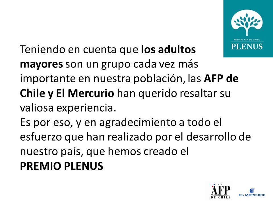 Teniendo en cuenta que los adultos mayores son un grupo cada vez más importante en nuestra población, las AFP de Chile y El Mercurio han querido resaltar su valiosa experiencia.