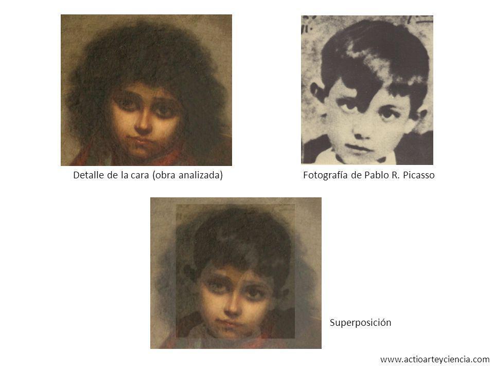 www.actioarteyciencia.com Detalle de la cara (obra analizada)Fotografía de Pablo R. Picasso Superposición