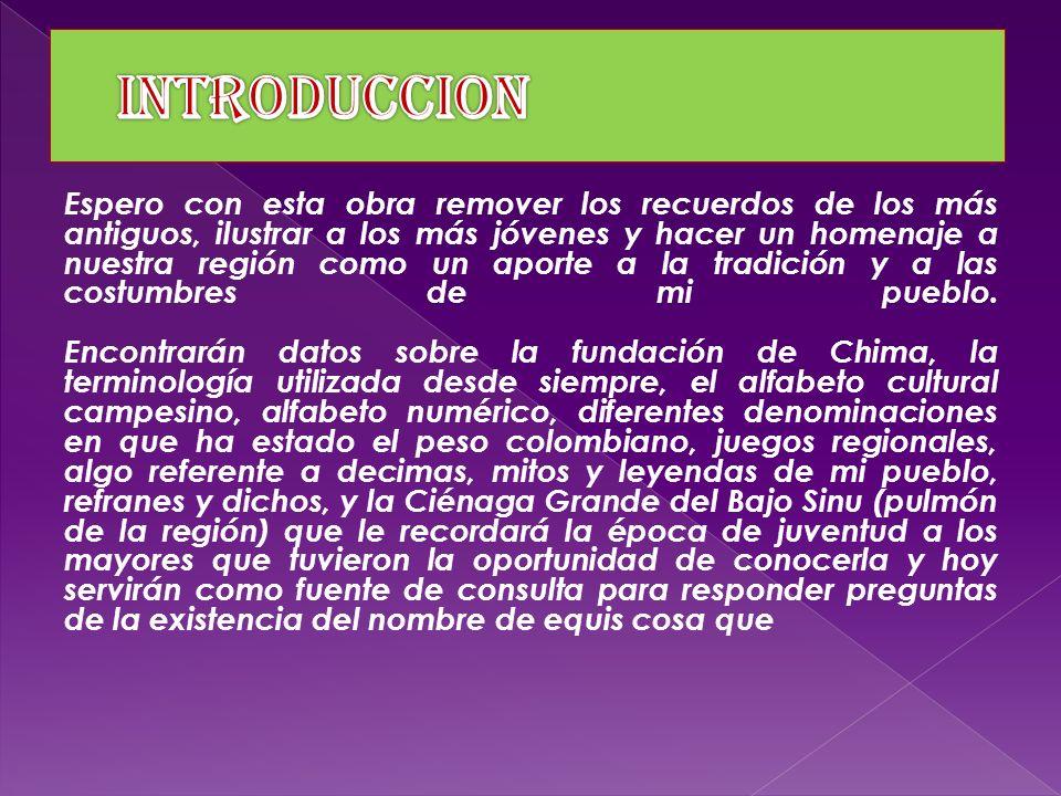 Chima cuenta con mas de 13.639 personas PAG. PRIN. CREDITO SALIDA