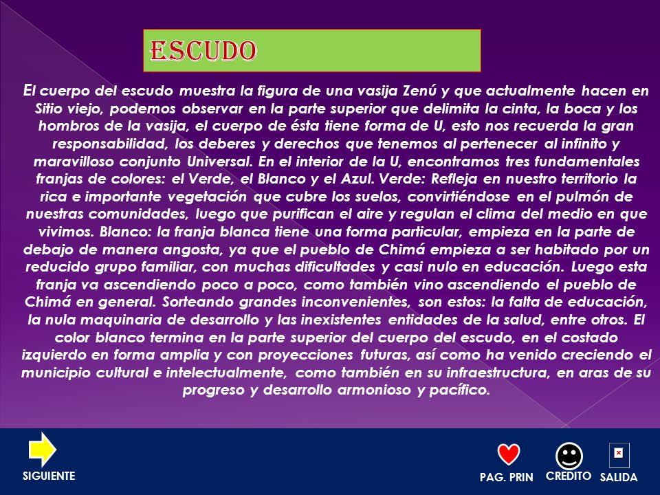 CHIMA Y SU ECONOMIA PAG. PRIN. CREDITO SALIDA