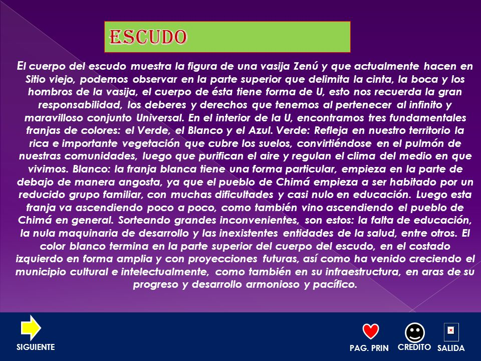 MENÚ ECONOMIA CULTURA AGRICULTURA COMERCIO PAG. PRIN. CREDITO SALIDA