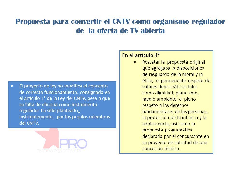 El proyecto no asegura el uso de los fondos públicos en pos del mejoramiento de la calidad y diversidad de la televisión por cuanto permite que cualquier tipo de canal participe en los concursos, incluso la TV de pago.