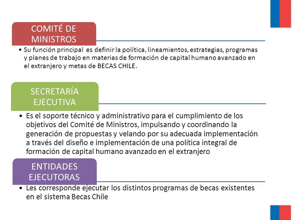 COMITÉ DE MINISTROS Su función principal es definir la política, lineamientos, estrategias, programas y planes de trabajo en materias de formación de