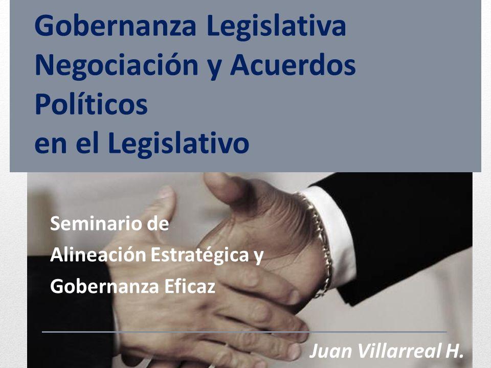 Gobernanza Legislativa Negociación y Acuerdos Políticos en el Legislativo Seminario de Alineación Estratégica y Gobernanza Eficaz Juan Villarreal H.
