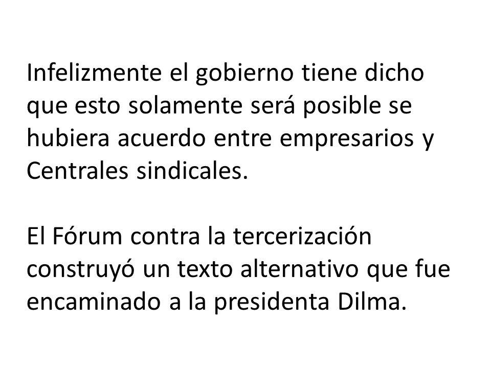 Conclusión: Estamos en Brasil en la eminencia de una grande derrota en este tema, se el proyecto for llevado a cabo, vamos a perder, pues, no tenemos apoyo de la base aliada del gobierno en la Cámara y en el Senado