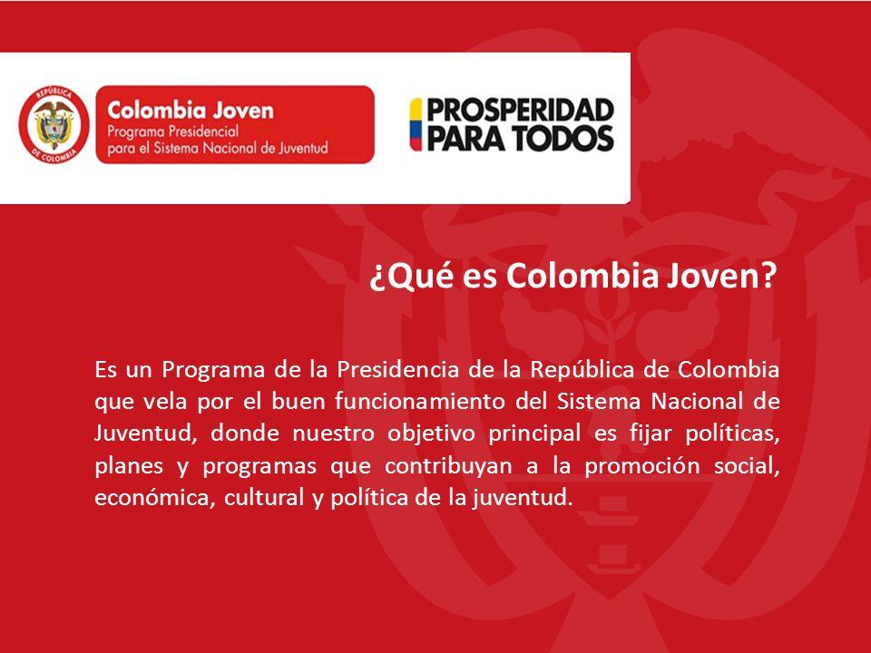 Población Objetivo: 4.500 Consejeros de Juventud 556 Municipios con CMJ 16 Departamentos con CDJ Objetivo: Brindar apoyo y herramientas a los consejeros de juventud.