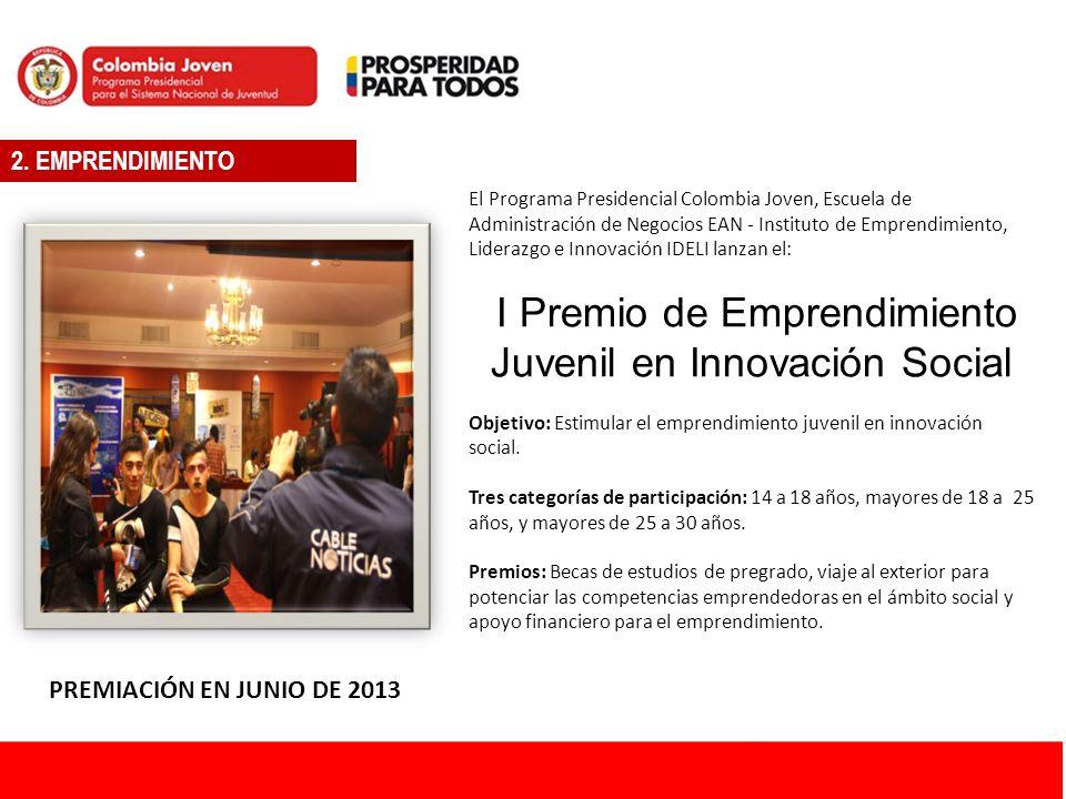 INGRESE A: www.colombiajoven.gov.co ATENCIÓN AL JOVEN / OPORTUNIDADES 8.