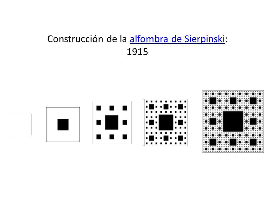 Construcción de la alfombra de Sierpinski: 1915alfombra de Sierpinski