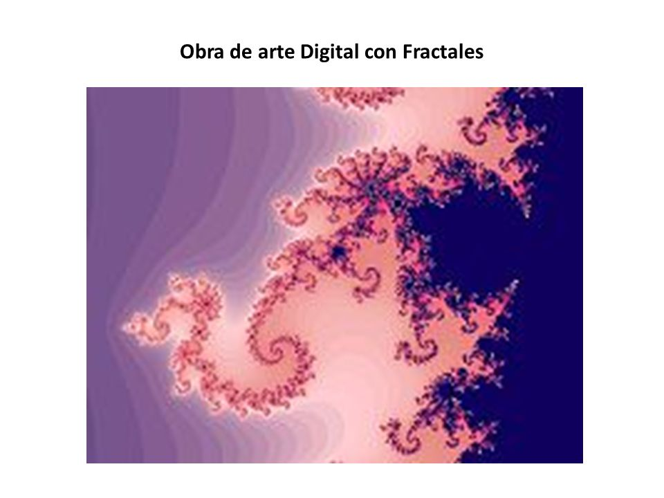 Obra de arte Digital con Fractales
