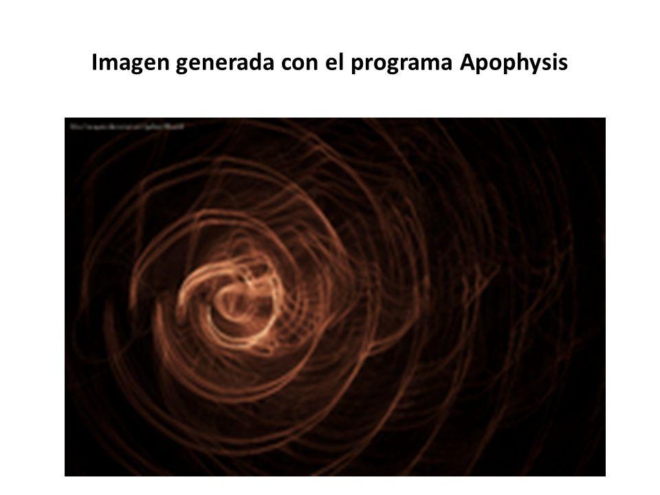 Imagen generada con el programa Apophysis