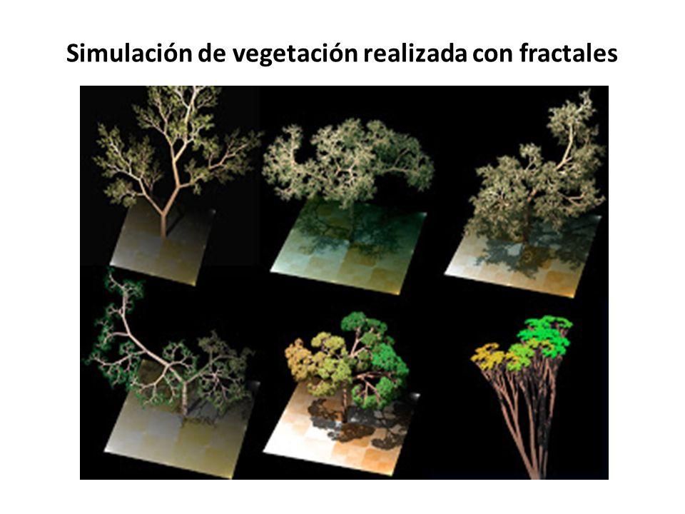 Simulación de vegetación realizada con fractales