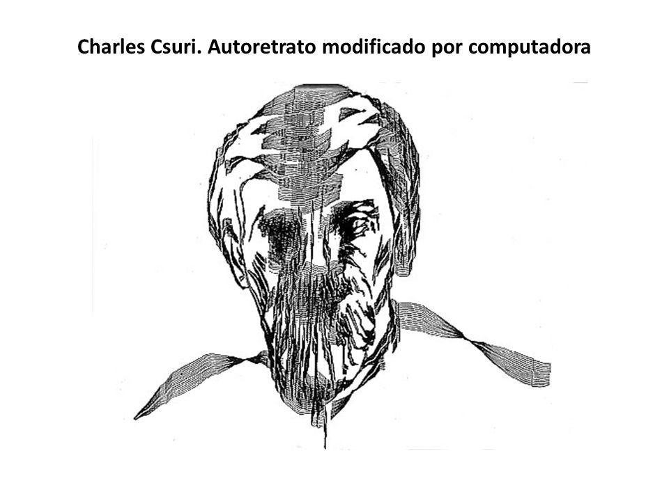 Charles Csuri. Autoretrato modificado por computadora