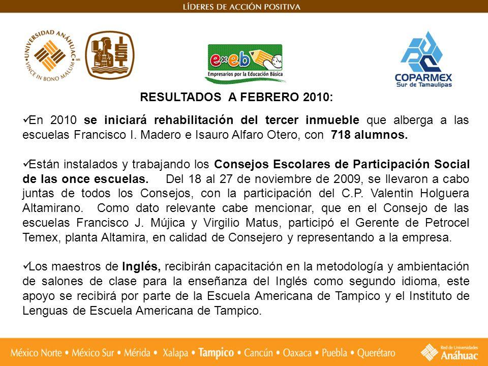 En 2010 se iniciará rehabilitación del tercer inmueble que alberga a las escuelas Francisco I. Madero e Isauro Alfaro Otero, con 718 alumnos. Están in