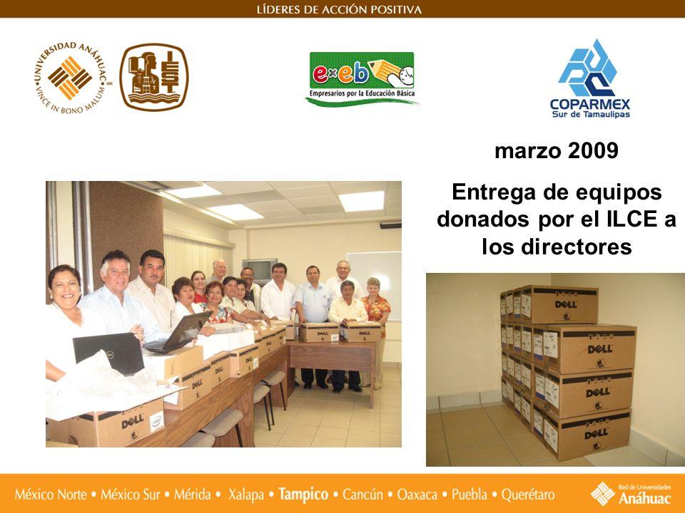 marzo 2009 Entrega de equipos donados por el ILCE a los directores