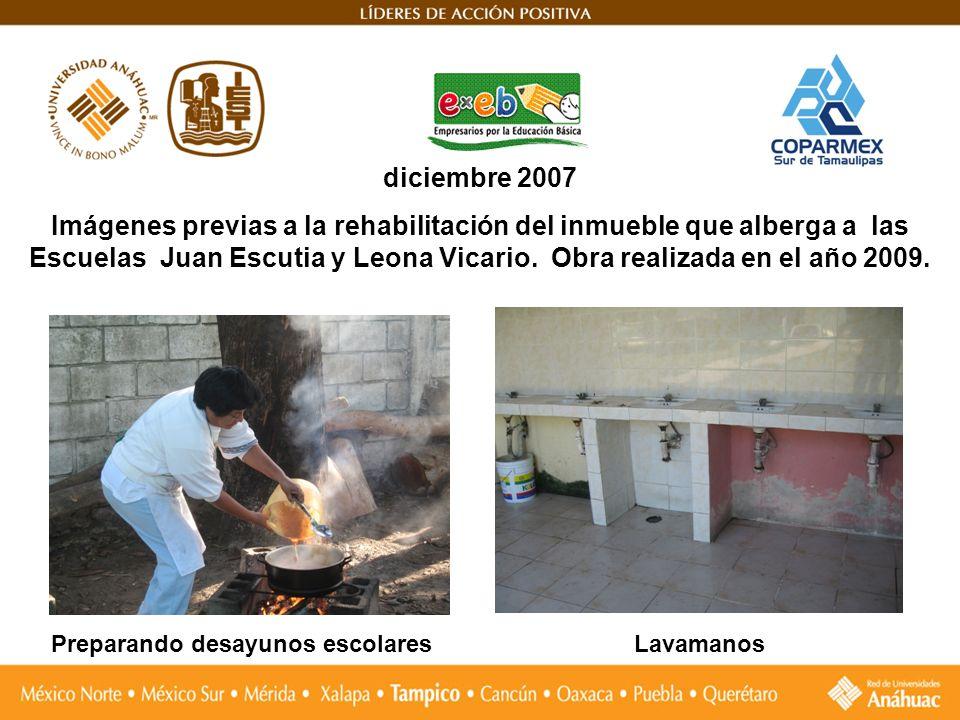 diciembre 2007 Imágenes previas a la rehabilitación del inmueble que alberga a las Escuelas Juan Escutia y Leona Vicario. Obra realizada en el año 200