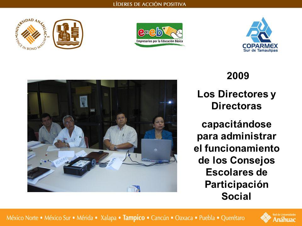 2009 Los Directores y Directoras capacitándose para administrar el funcionamiento de los Consejos Escolares de Participación Social
