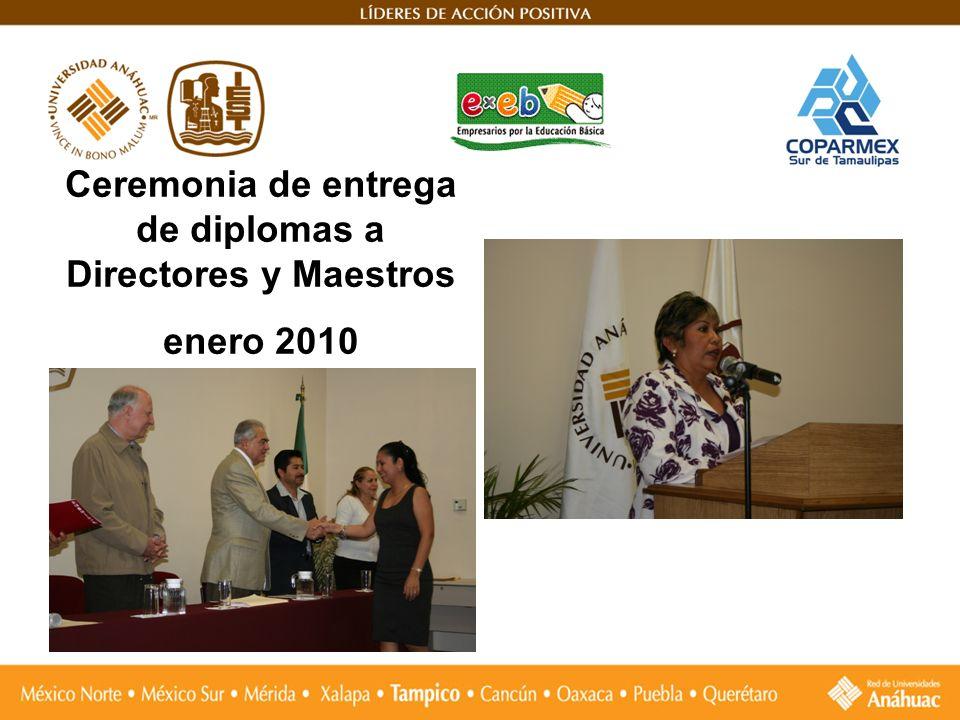 Ceremonia de entrega de diplomas a Directores y Maestros enero 2010