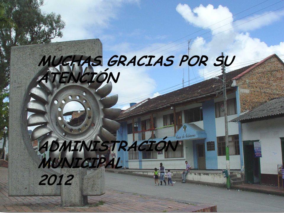 M M UNICIPAL 2012 A FELIPE GARZON. LCALDIA DE GACHALA FELIPE GARZON. SECRETARIO DE DECA MUCHAS GRACIAS POR SU ATENCIÓN ADMINISTRACIÓN MUNICIPAL 2012