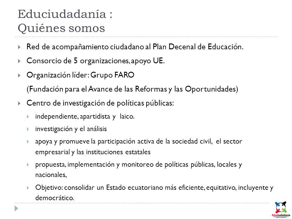 Educiudadanía : Quiénes somos Red de acompañamiento ciudadano al Plan Decenal de Educación.