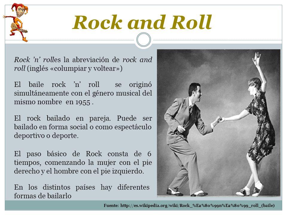 El rock bailado en pareja.