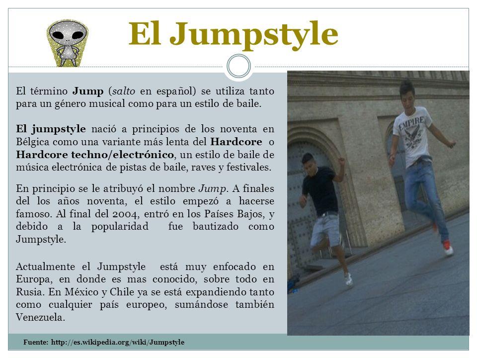Actualmente el Jumpstyle está muy enfocado en Europa, en donde es mas conocido, sobre todo en Rusia.
