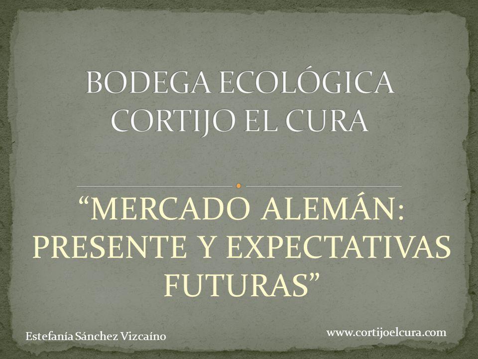 MERCADO ALEMÁN: PRESENTE Y EXPECTATIVAS FUTURAS www.cortijoelcura.com Estefanía Sánchez Vizcaíno