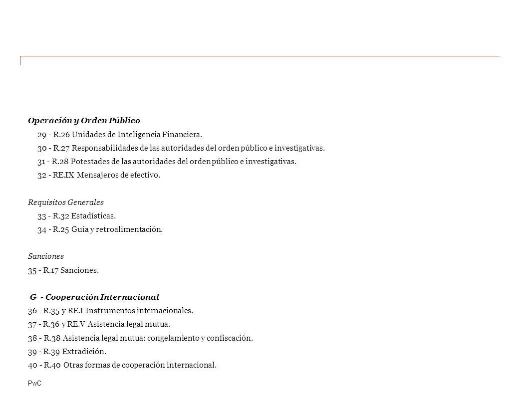 PwC Operación y Orden Público 29 - R.26 Unidades de Inteligencia Financiera.