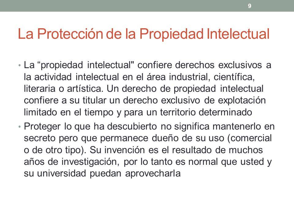 La Protección de la Propiedad Intelectual La propiedad intelectual