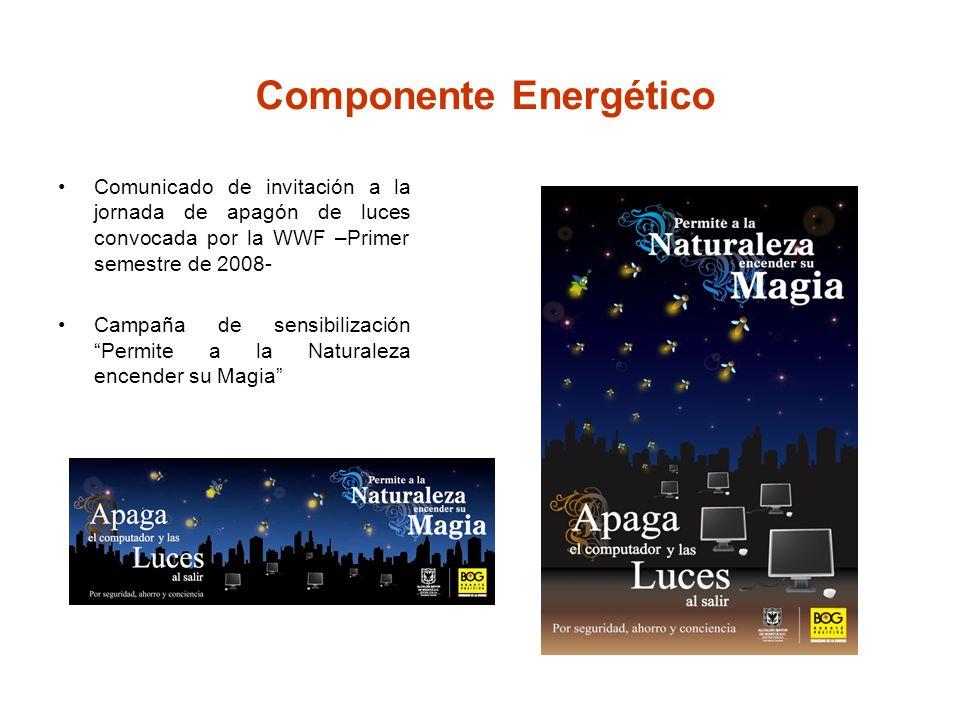 Campaña de sensibilización Permite a la Naturaleza encender su Magia Componente Energético