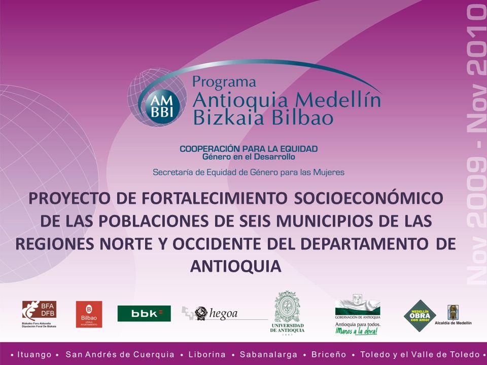 MunicipioGrupos organizadosOrganizaciones de mujeres Relacionadas con la asociatividadOtrasExistentes Ituango -Ganaderos -Paneleros -Pequeños productores agrícolas -Itesidia (situación de discapacidad).