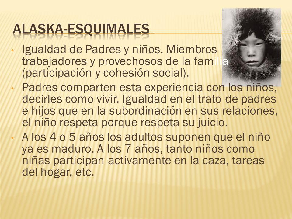 Igualdad de Padres y niños. Miembros trabajadores y provechosos de la familia. (participación y cohesión social). Padres comparten esta experiencia co