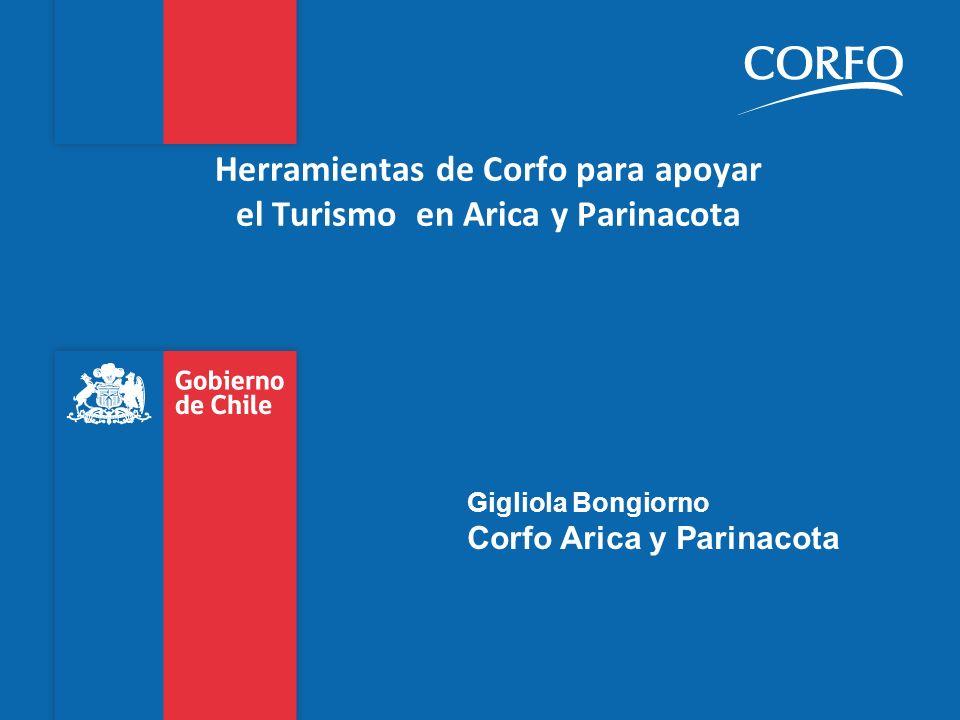 Herramientas de Corfo para apoyar el Turismo en Arica y Parinacota Gigliola Bongiorno Corfo Arica y Parinacota