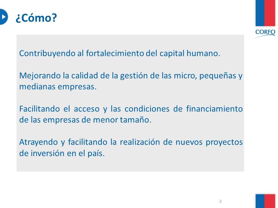 14 Gobierno de Chile | Corfo Programa de Desarrollo de Proveedores Beneficiarios: Empresa Demandante con ventas anuales netas iguales o superiores a 100.000 UF, con empresas proveedoras que individualmente tengan ventas anuales netas de hasta 100.000 UF.