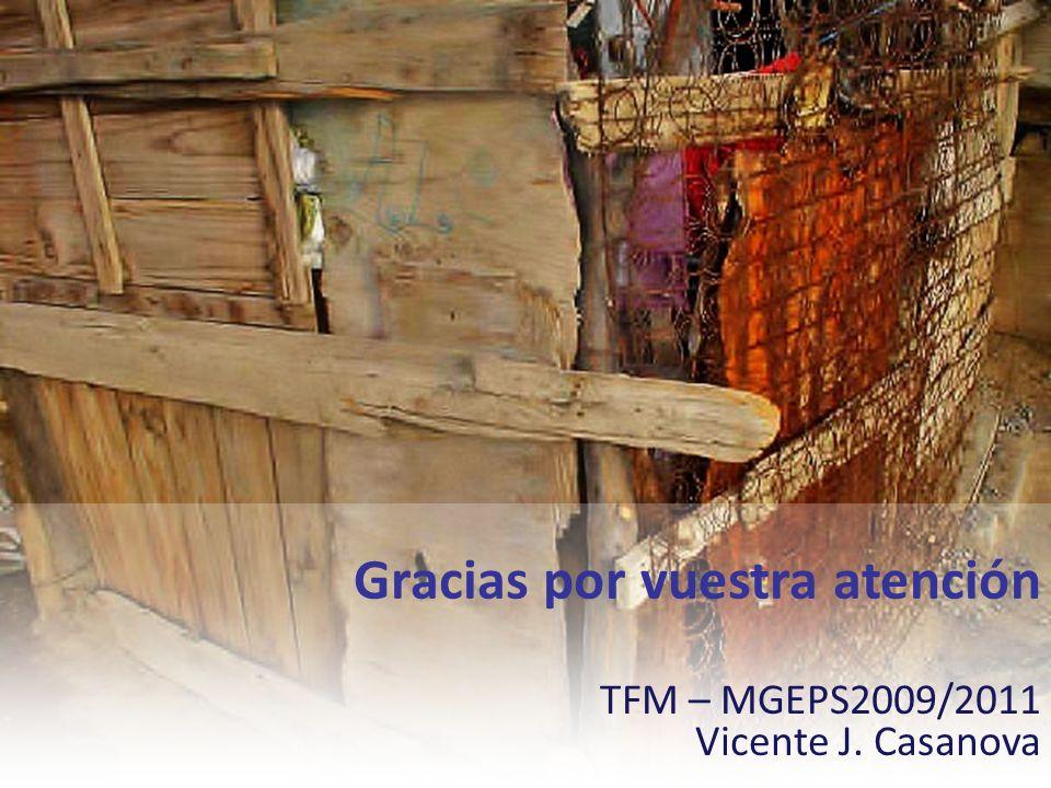 Gracias por vuestra atención TFM – MGEPS2009/2011 Vicente J. Casanova