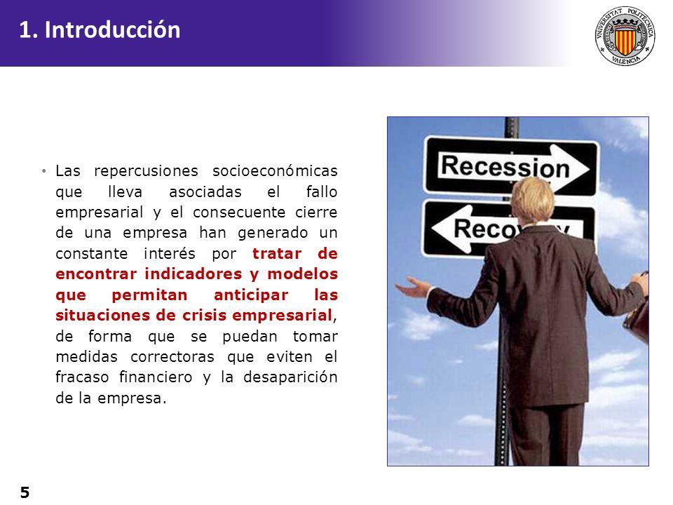 5 Las repercusiones socioeconómicas que lleva asociadas el fallo empresarial y el consecuente cierre de una empresa han generado un constante interés