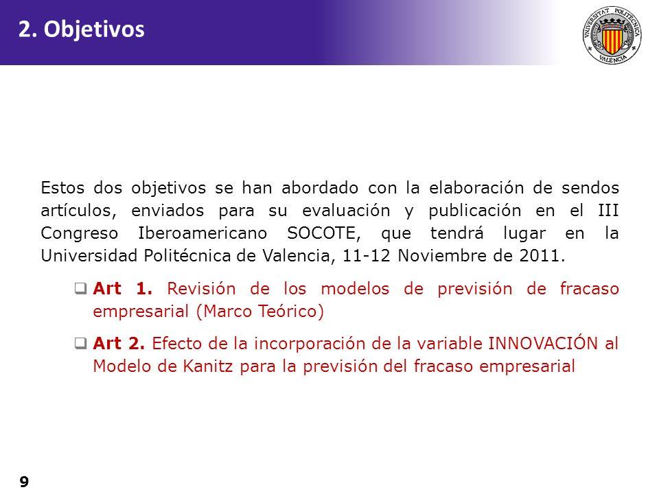 9 Estos dos objetivos se han abordado con la elaboración de sendos artículos, enviados para su evaluación y publicación en el III Congreso Iberoameric