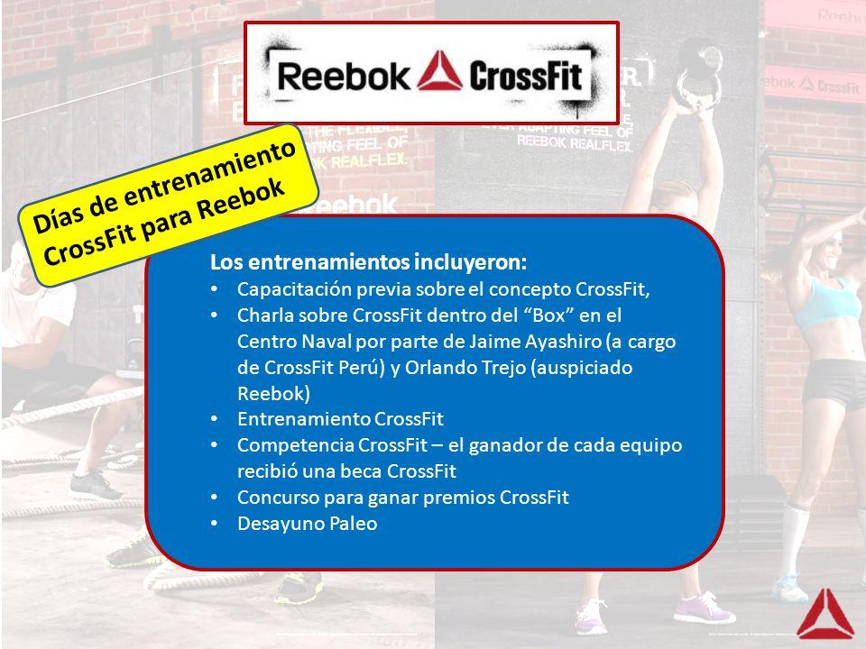 Los entrenamientos incluyeron: Capacitación previa sobre el concepto CrossFit, Charla sobre CrossFit dentro del Box en el Centro Naval por parte de Ja