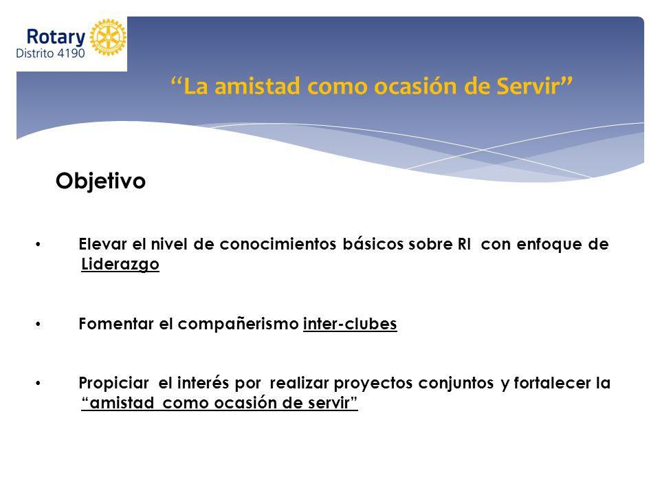 Actividades Programa de Capacitación Elaborado y Coordinado por el Comité Distrital de Capacitación Programa de Convivencia Rotaria Elaborado y Coordinado por los Asistentes de Gobernador y los Comités Inter-clubes de Zona