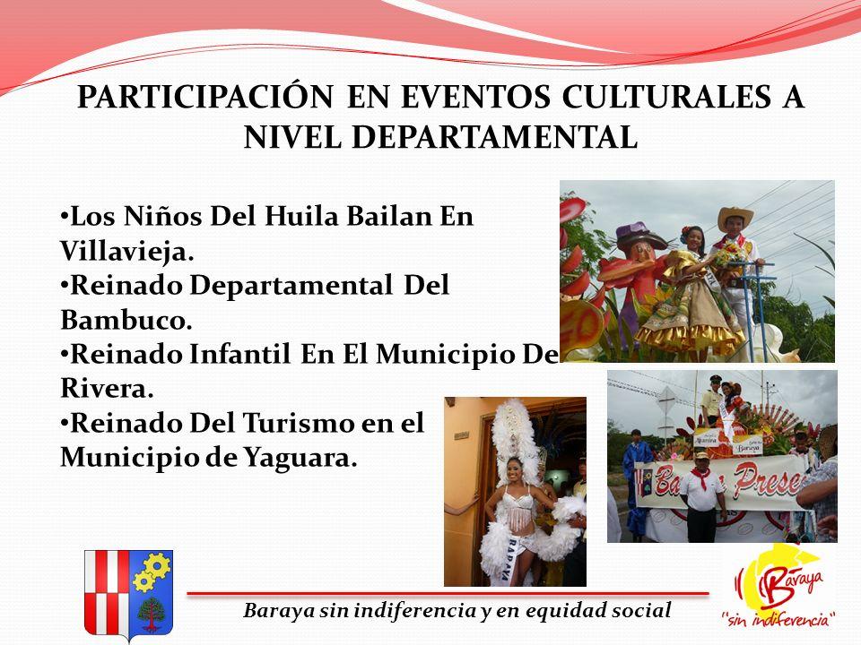 PARTICIPACIÓN EN EVENTOS CULTURALES A NIVEL DEPARTAMENTAL Baraya sin indiferencia y en equidad social Los Niños Del Huila Bailan En Villavieja. Reinad