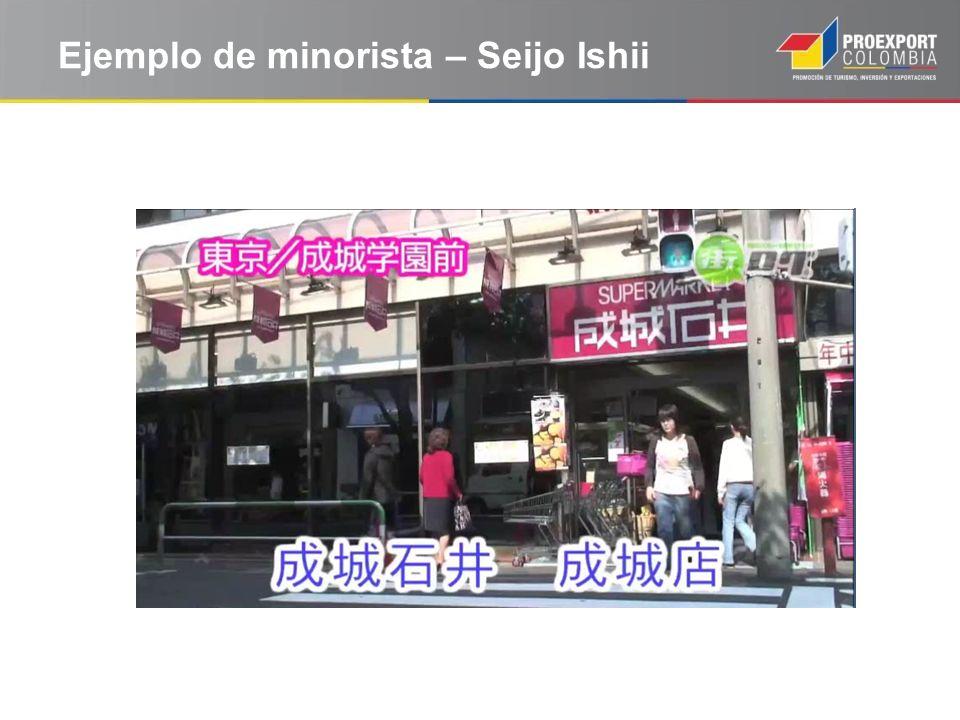 Ejemplo de minorista – Seijo Ishii