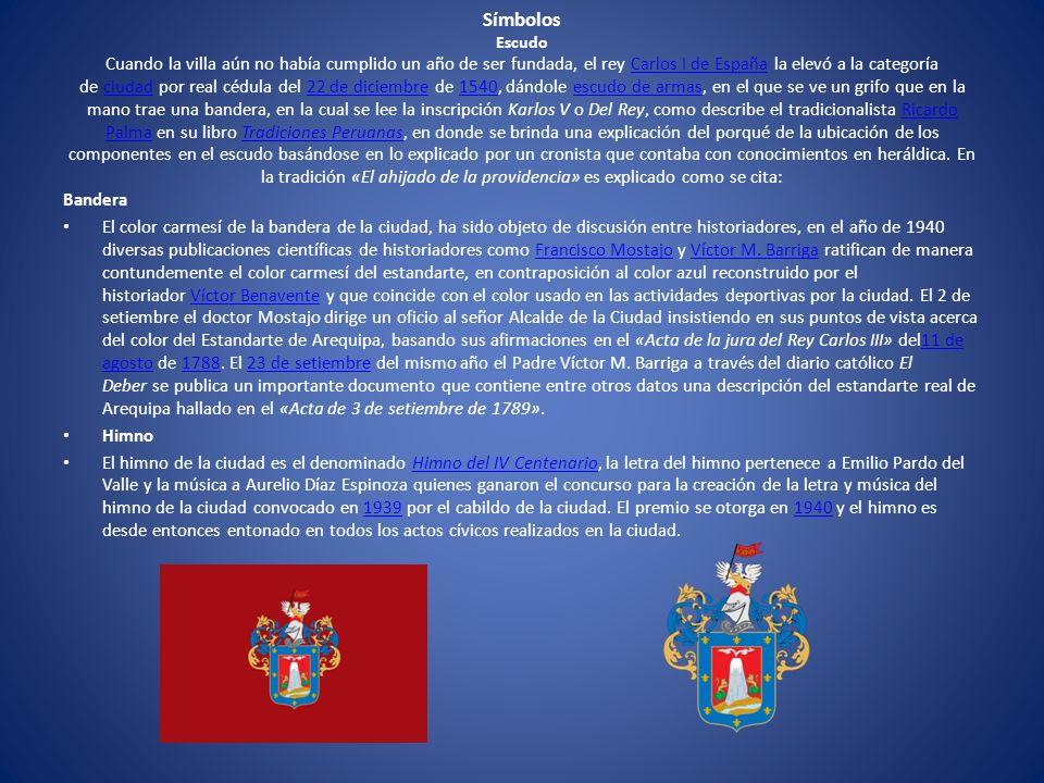 Símbolos Escudo Cuando la villa aún no había cumplido un año de ser fundada, el rey Carlos I de España la elevó a la categoría de ciudad por real cédu