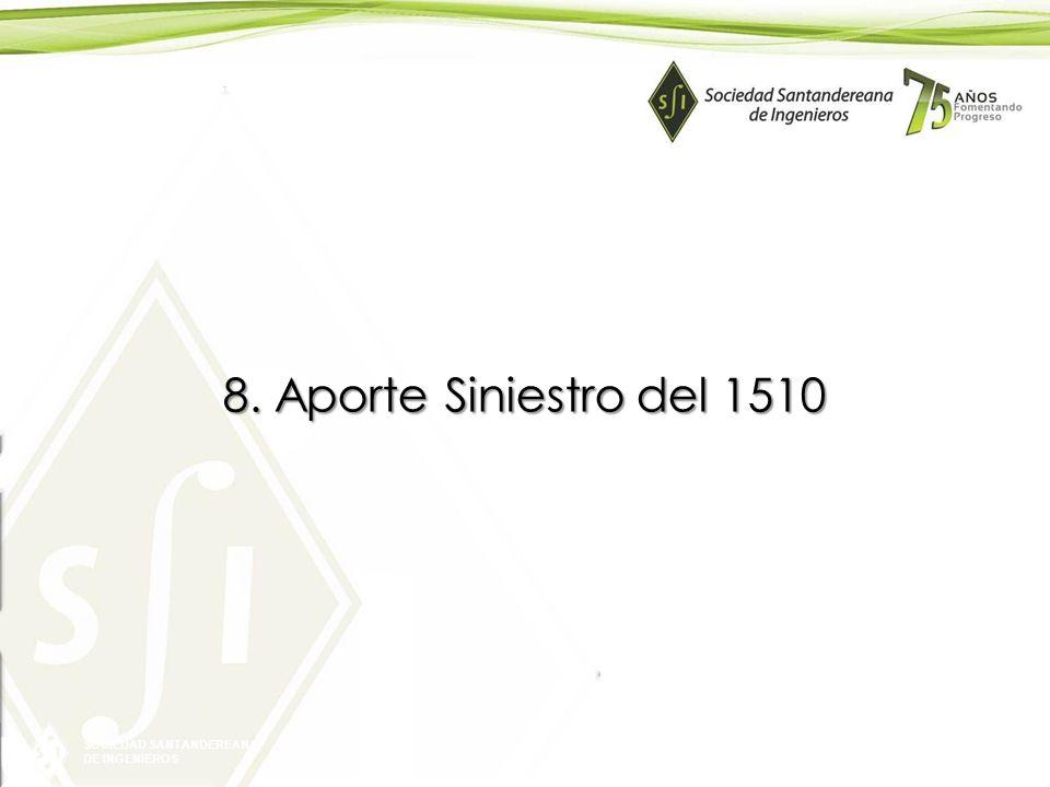 SOCIEDAD SANTANDEREANA DE INGENIEROS 8. Aporte Siniestro del 1510