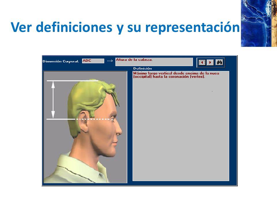 Ver definiciones y su representación