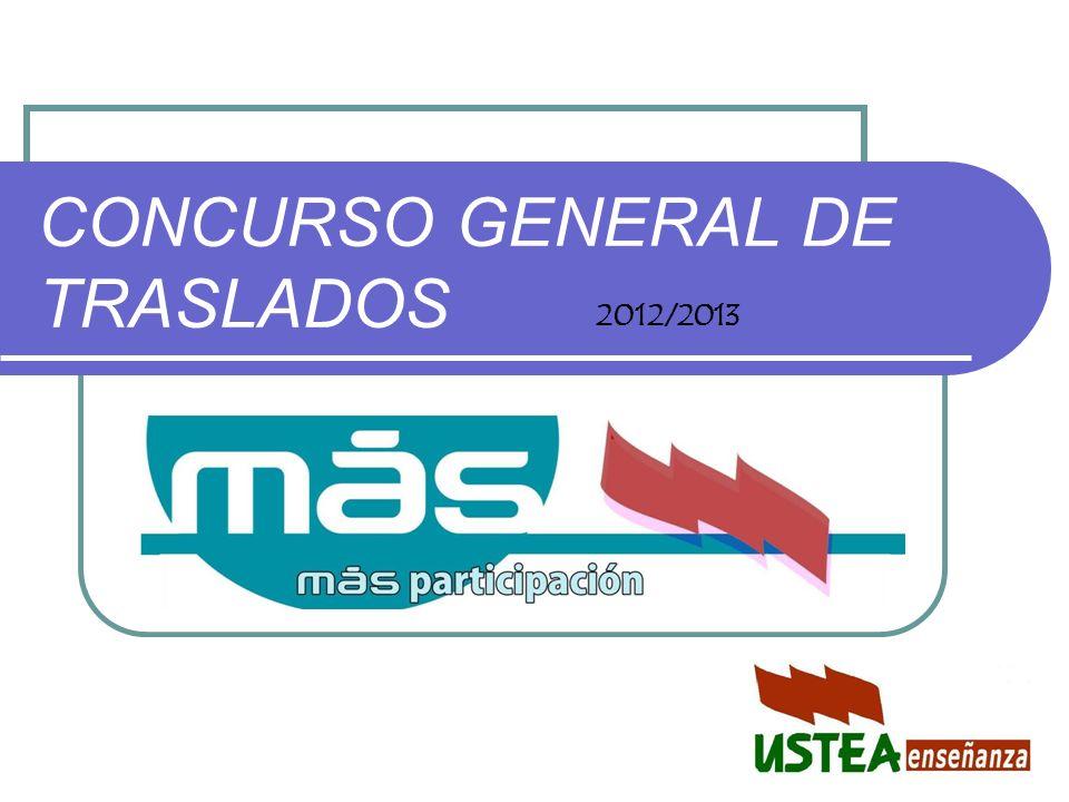 CONCURSO GENERAL DE TRASLADOS 2012/2013