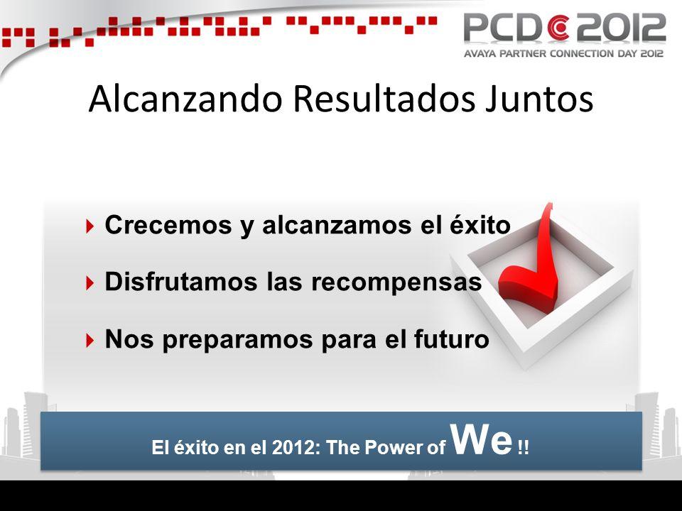 Alcanzando Resultados Juntos Crecemos y alcanzamos el éxito Disfrutamos las recompensas Nos preparamos para el futuro El éxito en el 2012: The Power o