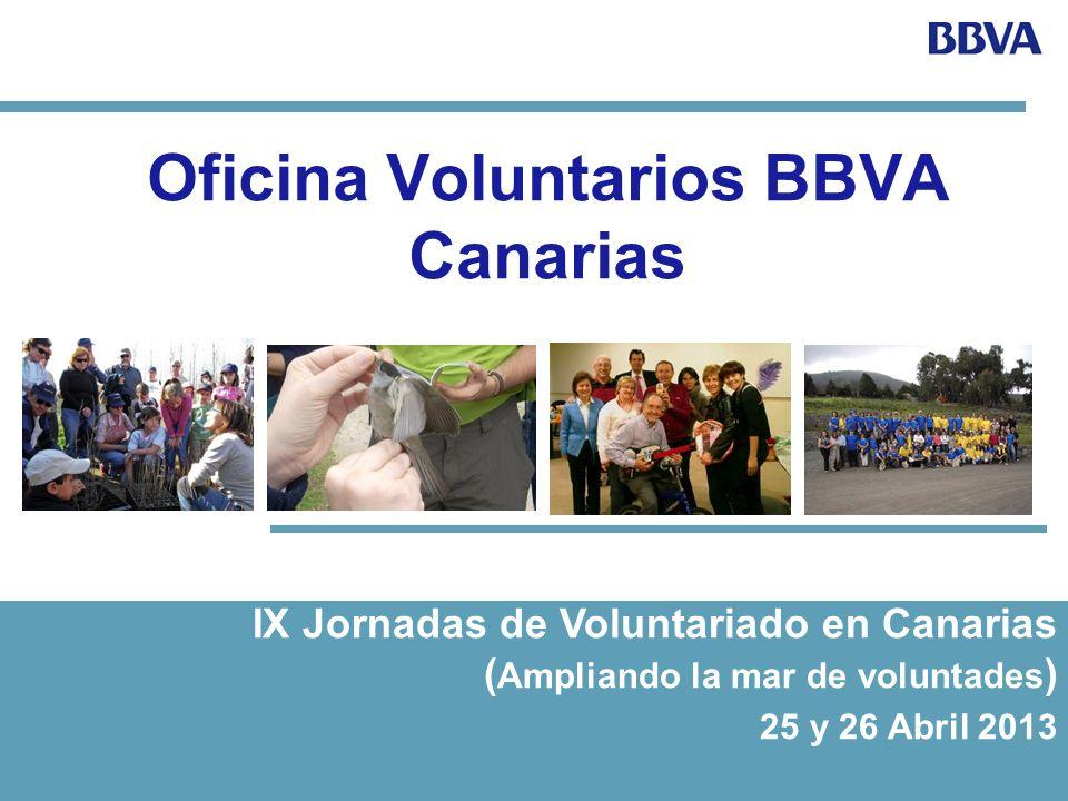 VOLUNTARIOS 1.IMPLANTACION 2007 a nivel nacional Desde 2012, en Canarias contamos con una oficina de coordinación territorial 2.CARACTERISTICAS Es una de las iniciativas del área de Responsabilidad Social Corporativa y de RR.HH.