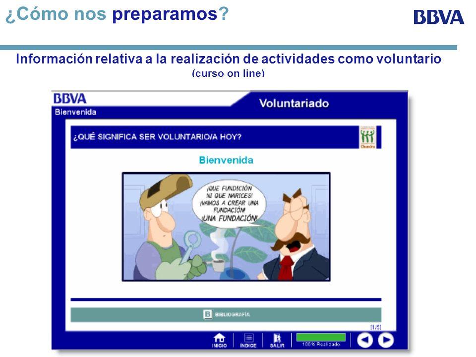 Información relativa a la realización de actividades como voluntario (curso on line) ¿Cómo nos preparamos?