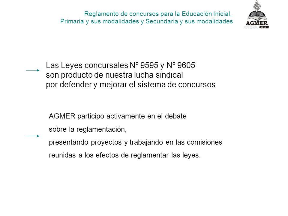 Las Leyes concursales Nº 9595 y Nº 9605 son producto de nuestra lucha sindical por defender y mejorar el sistema de concursos AGMER participo activame